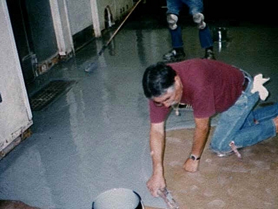 epoxy floor application