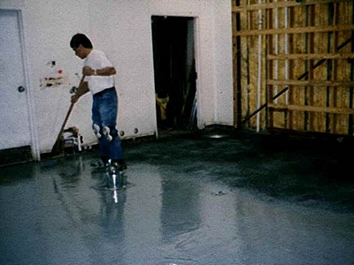 applying a diy epoxy floor garage paint