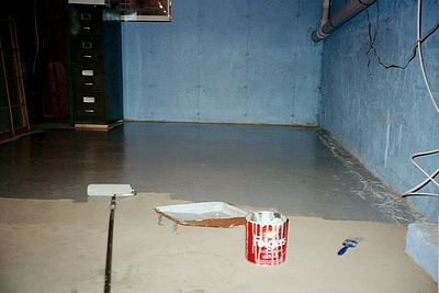 floor epoxy paint basement coating
