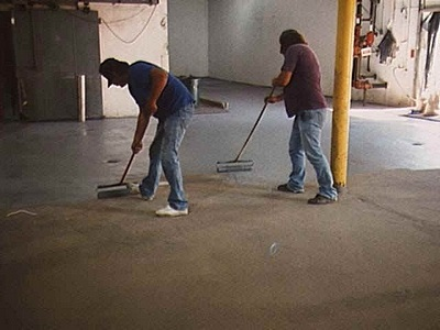 epoxy floor paint application