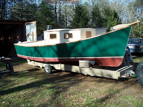 boat built with no blush marine epoxy resin