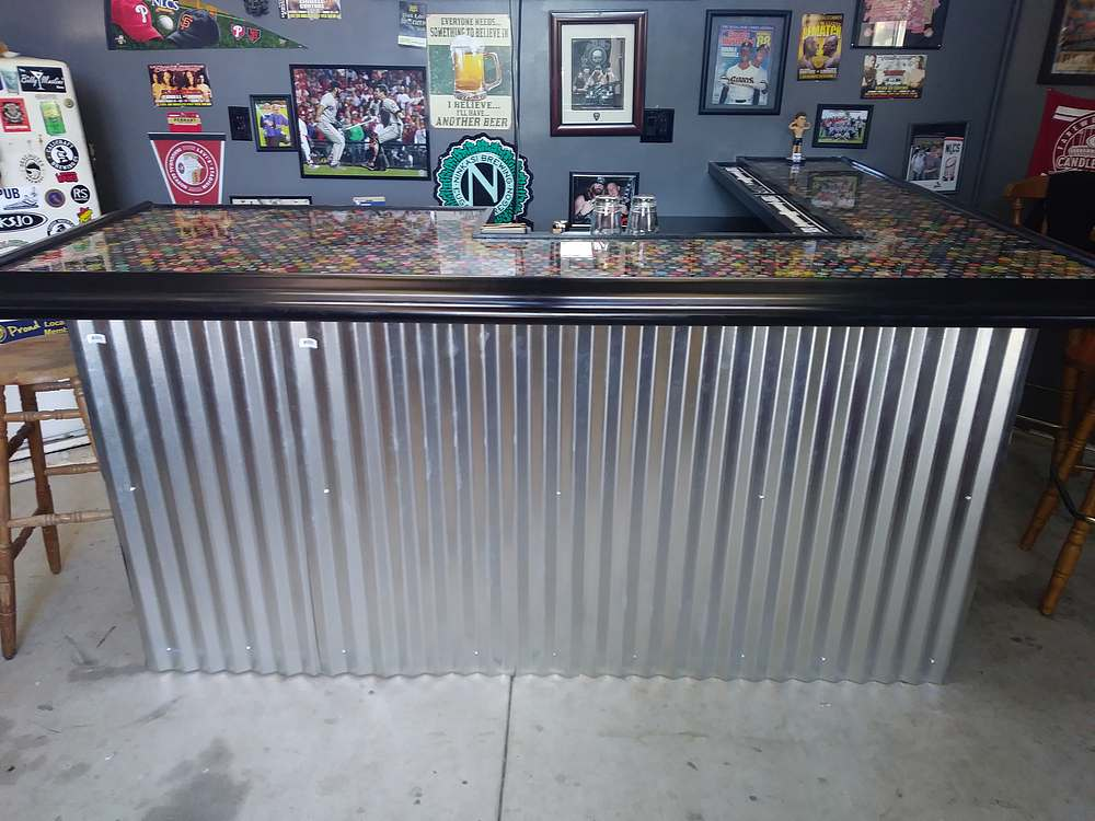 Epoxy bottle top bar